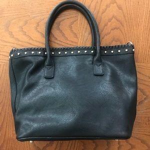 Bags - Black vegan leather tote